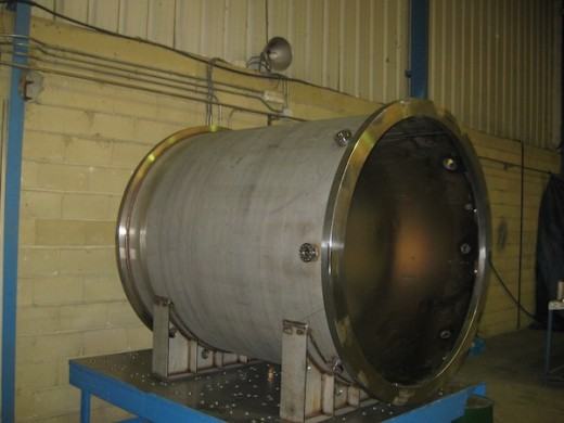The pressure vessel for NEXT-100