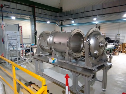 The NEW vessel in the Canfranc laboratory.